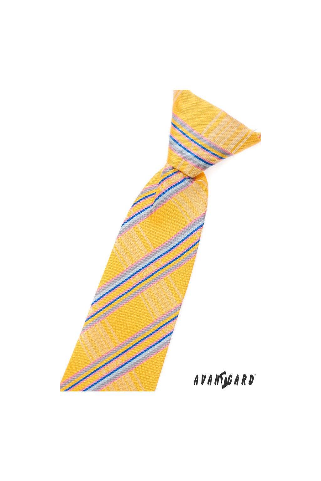 Chlapecká kravata žlutá 558 - 1206
