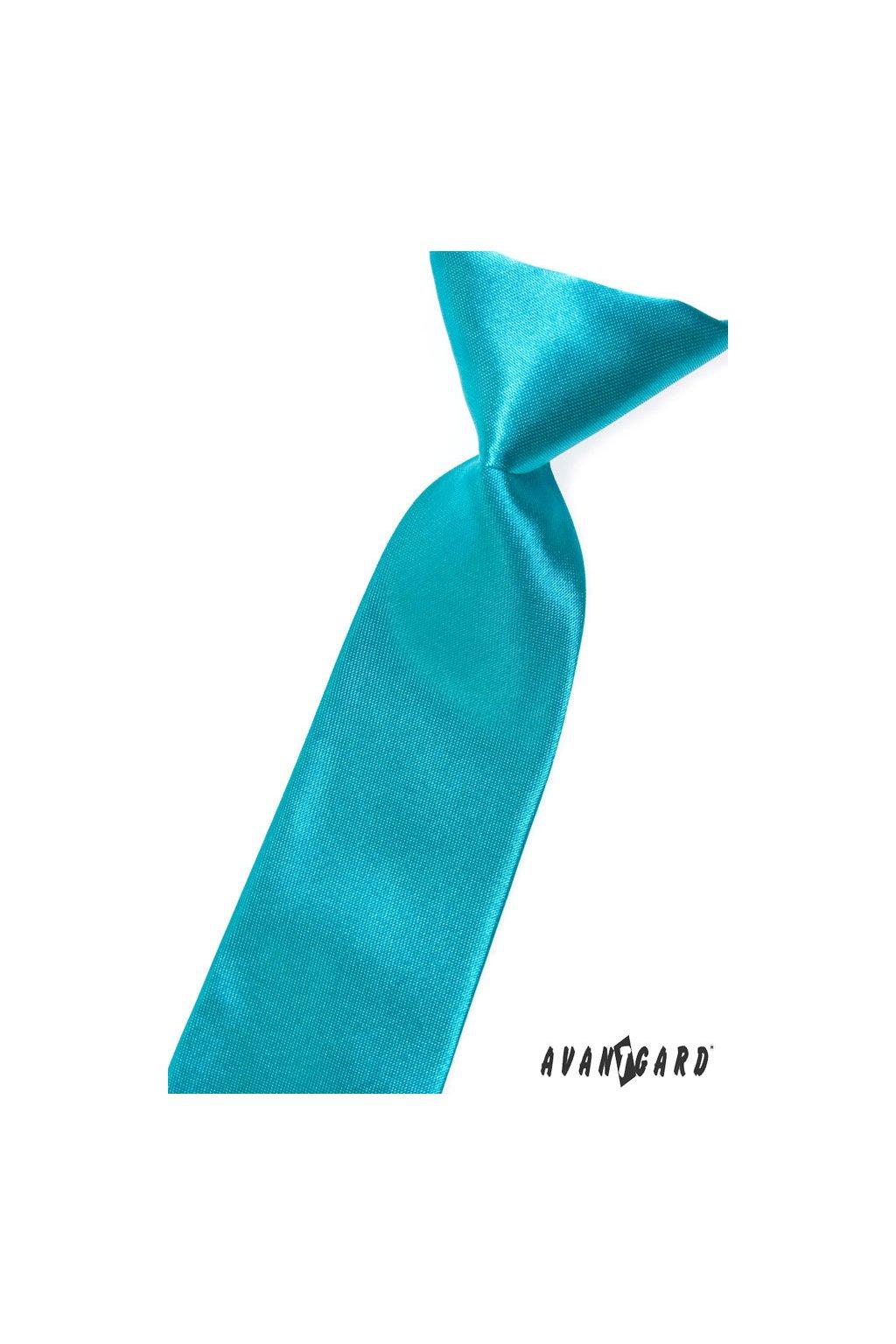 Chlapecká kravata tyrkysová 558 - 741