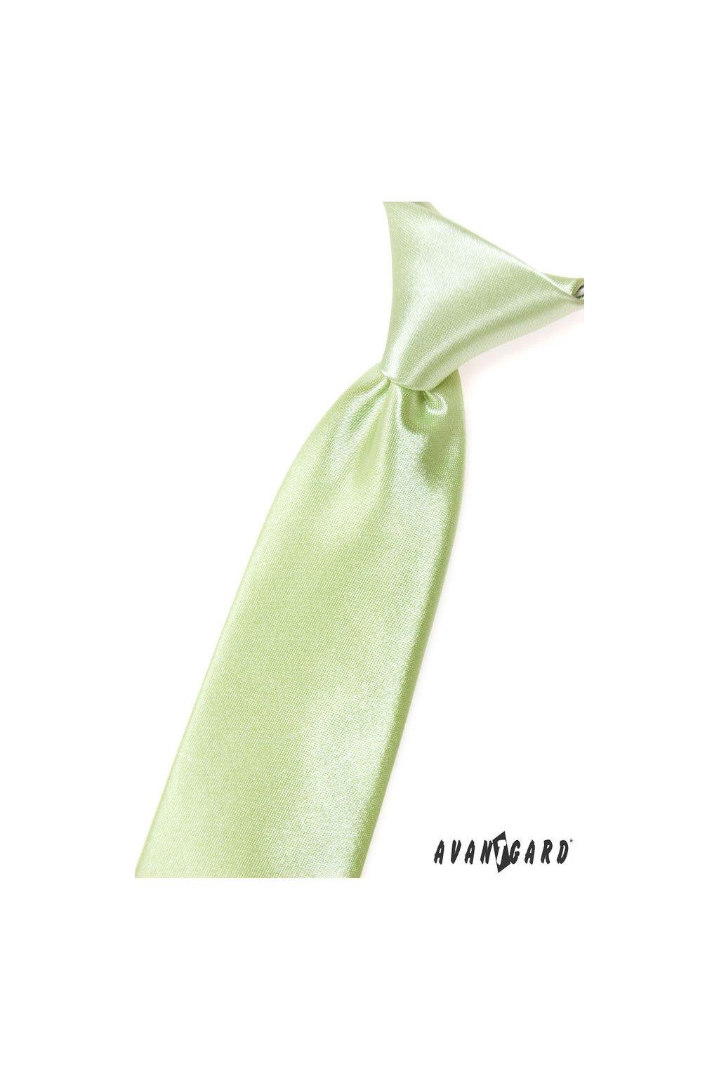 Chlapecká kravata limetková 558 - 9045