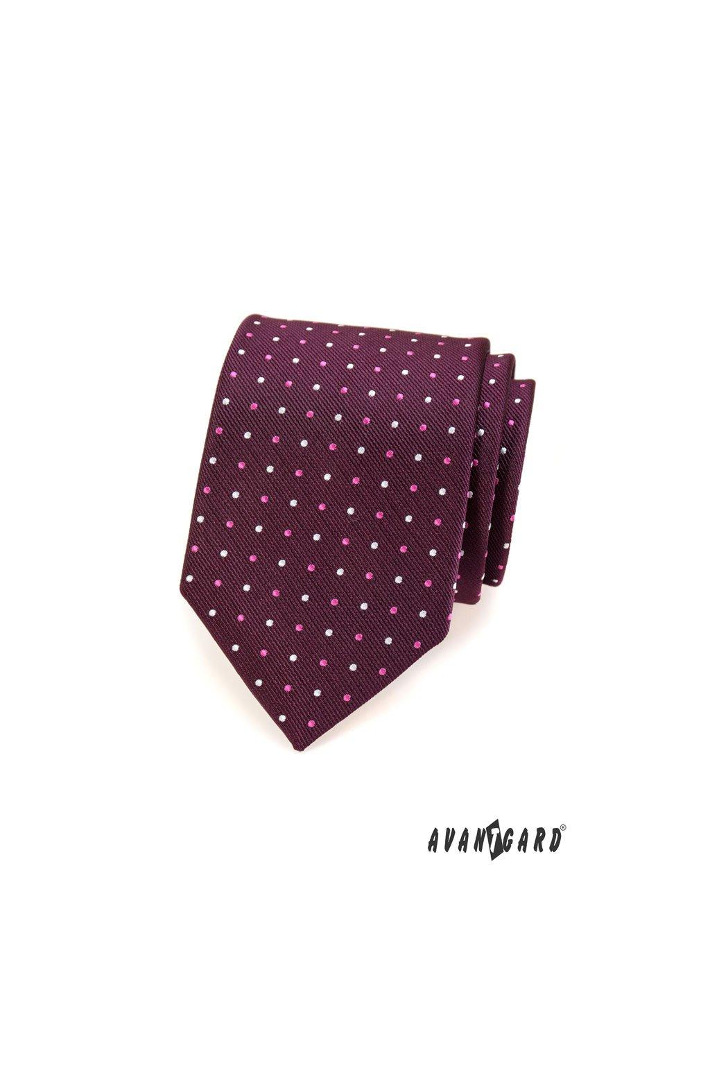 Fialová kravata s puntíky 559 - 1565