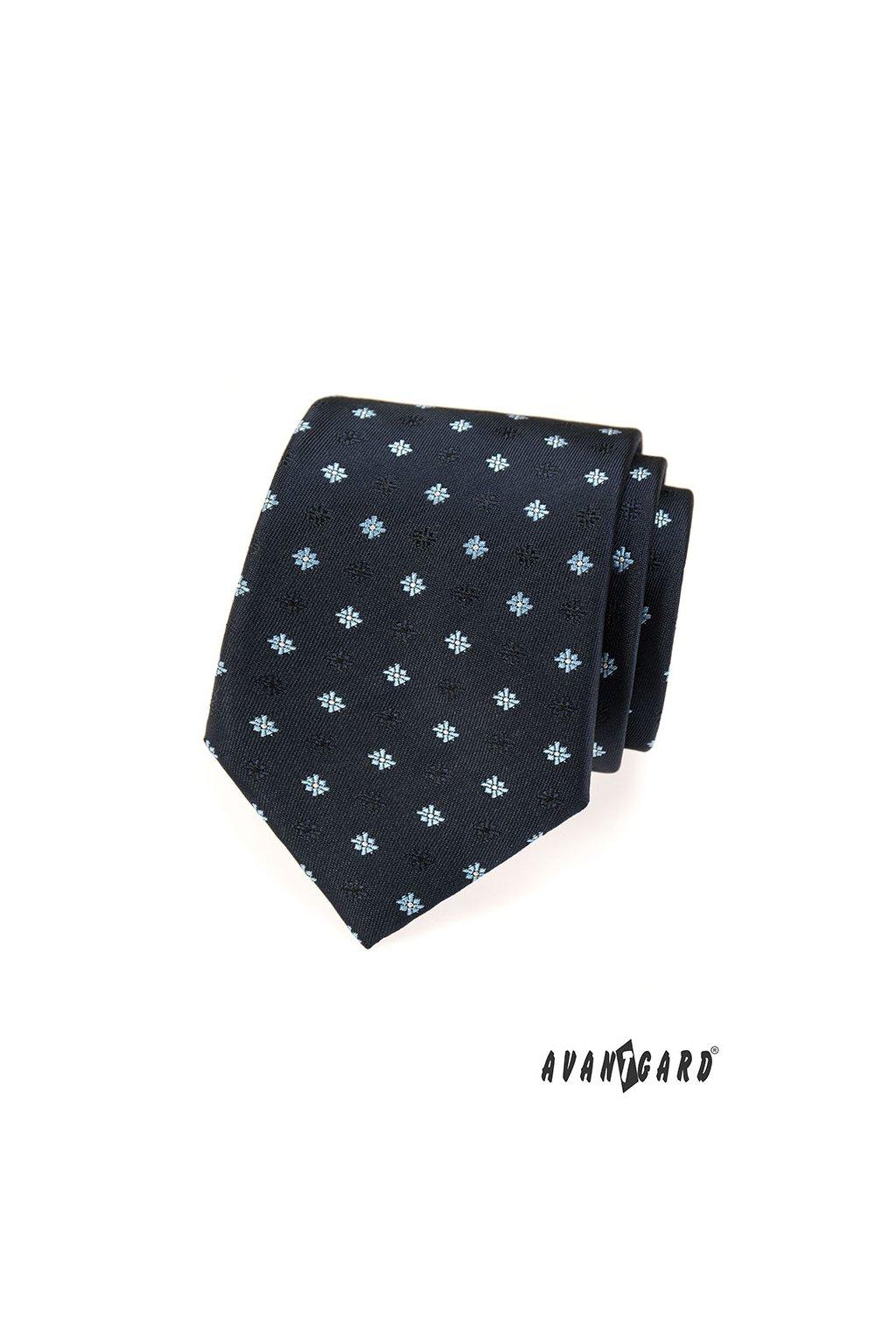 Tmavě modrá kravata s hvězdičkou 559 - 1611