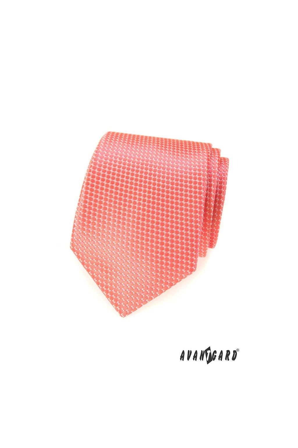 Lososová kravata se vzorkem 559 - 324