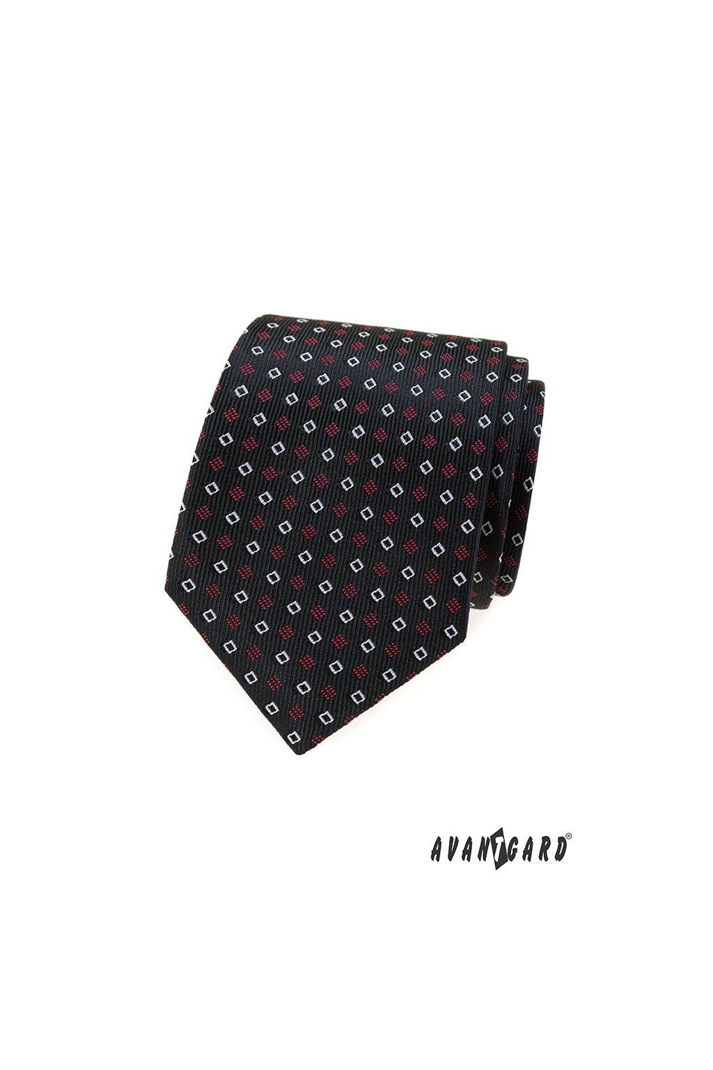 Černá kravata se vzorkem 559 - 344