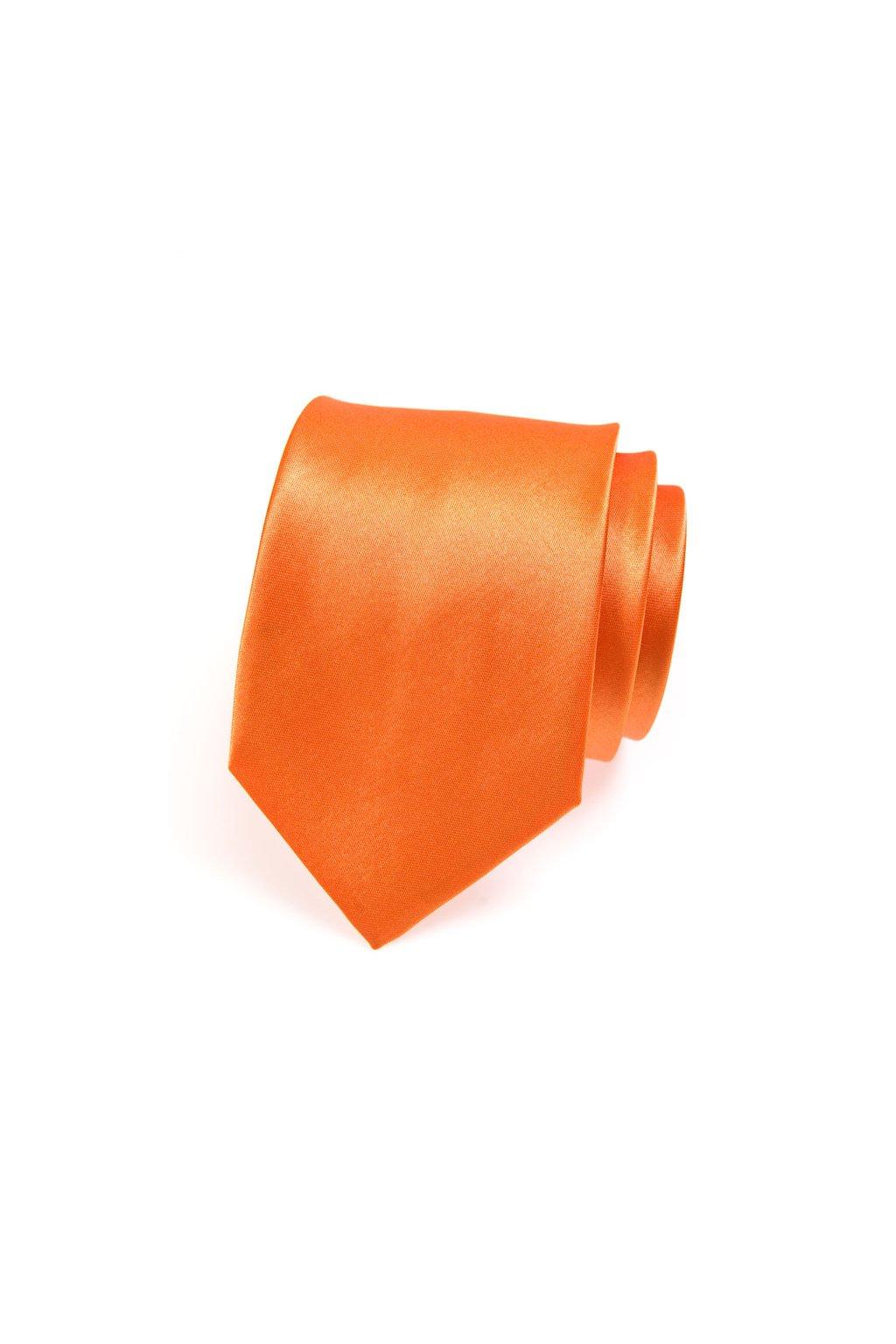Oranžová kravata lesklá 559 - 783