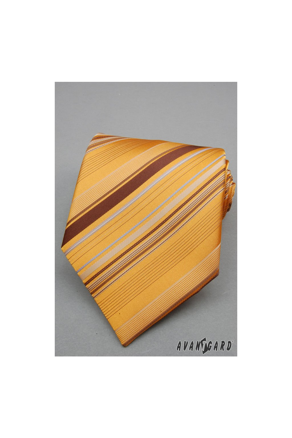 Žlutá kravata s proužkem 559 - 90816