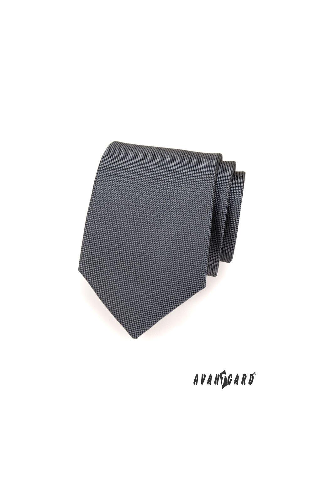 Grafitová luxusní kravata 561 - 14925