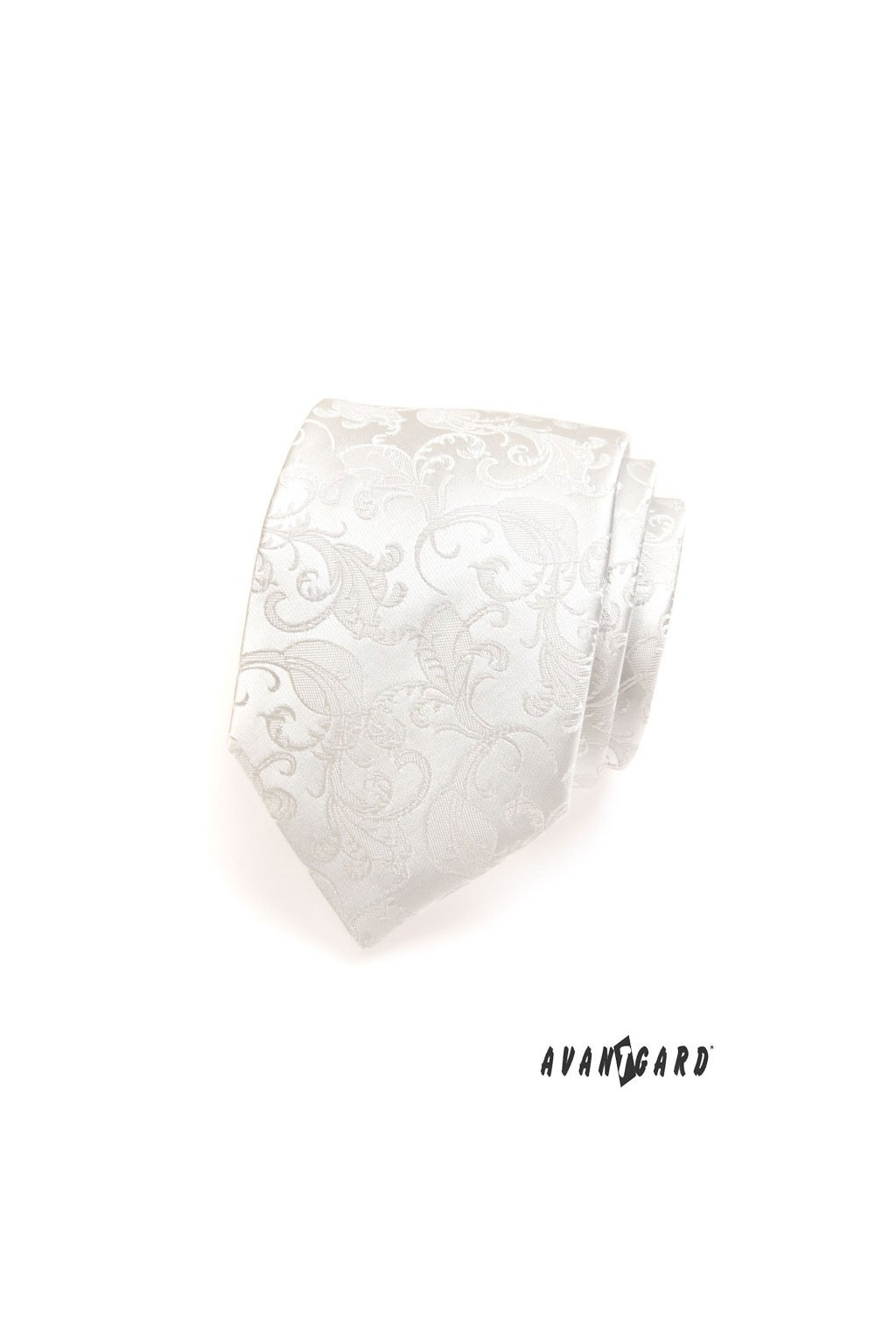 Smetanová luxusní kravata plastický vzorek 561 - 18