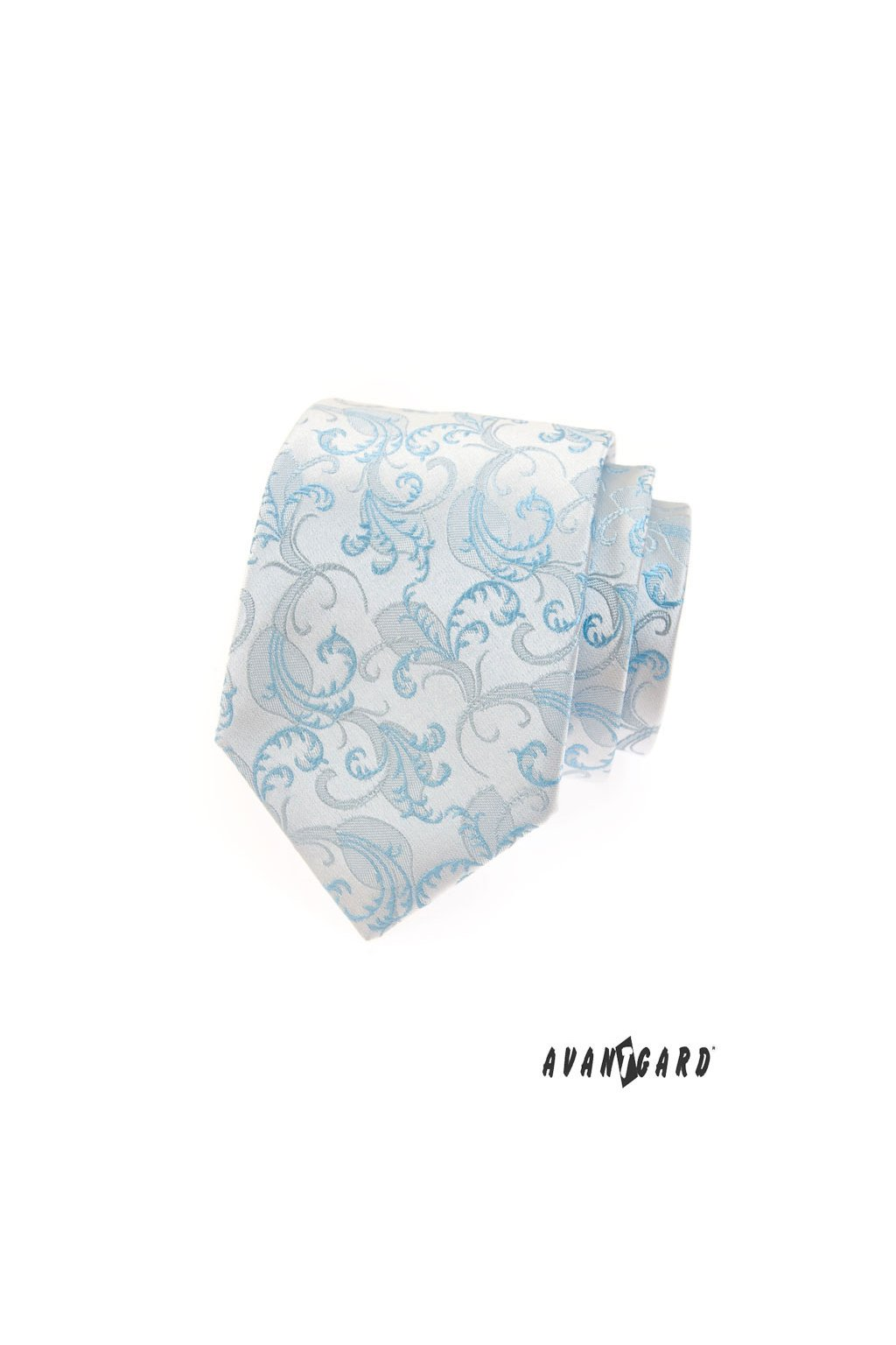 Jemná modrá luxusní kravata 561 - 27