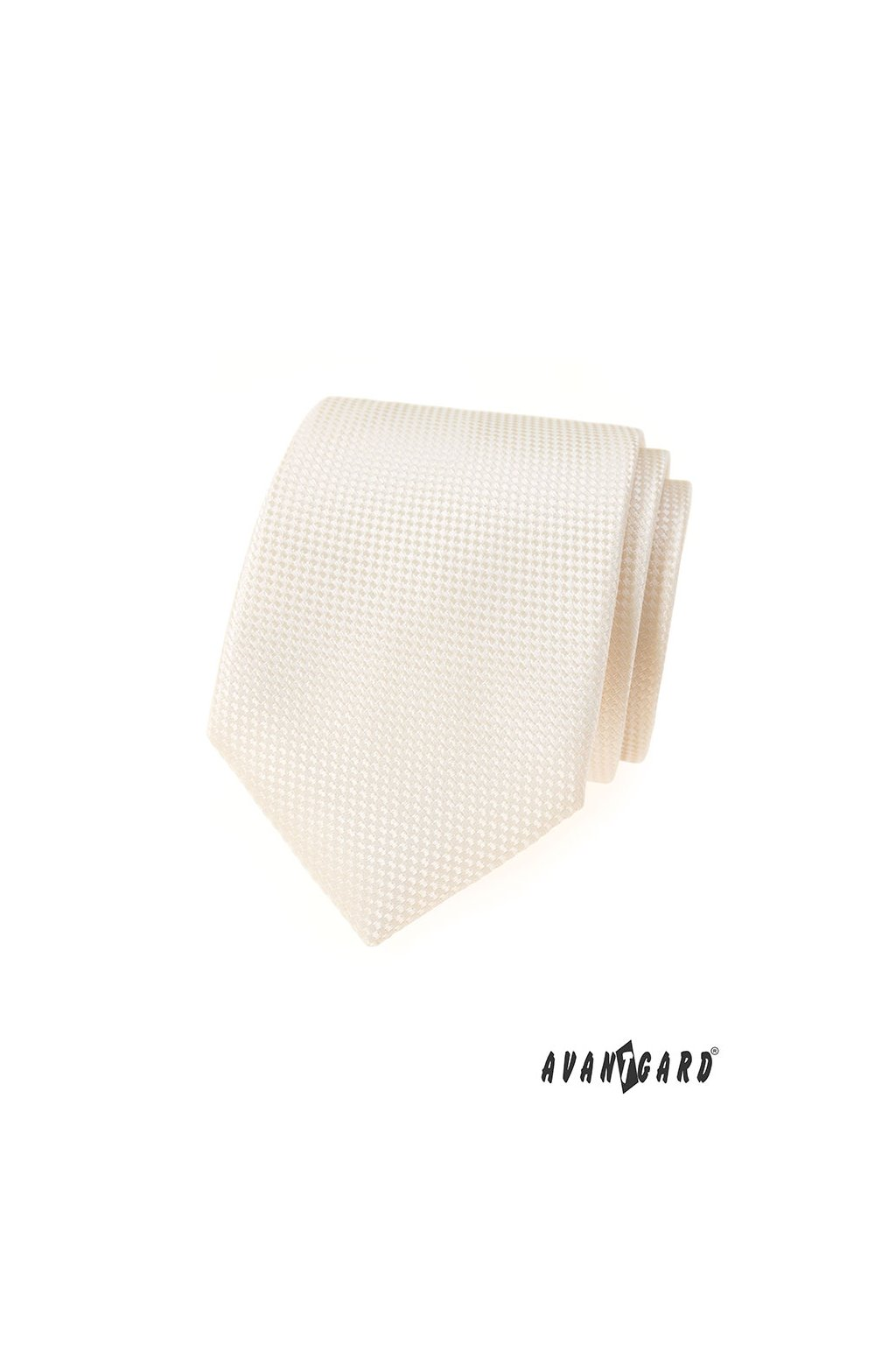 Smetanová luxusní kravata s vroubkem 561 - 55016