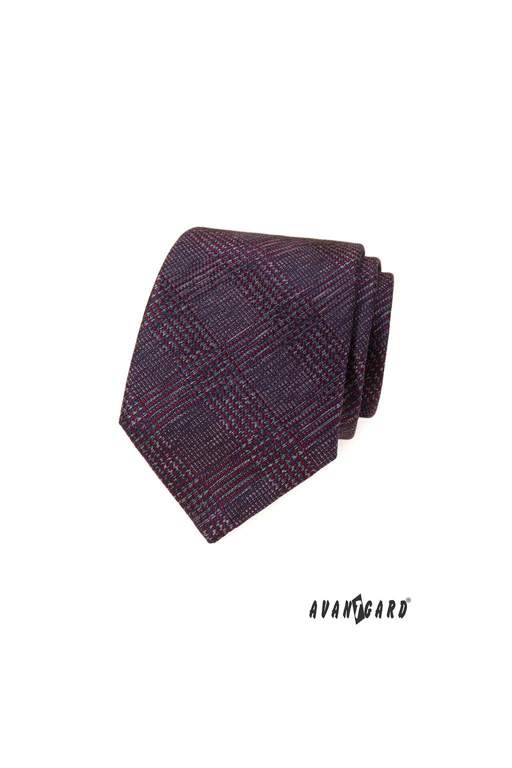 Bordó luxusní kravata vzorovaná 561 - 62311