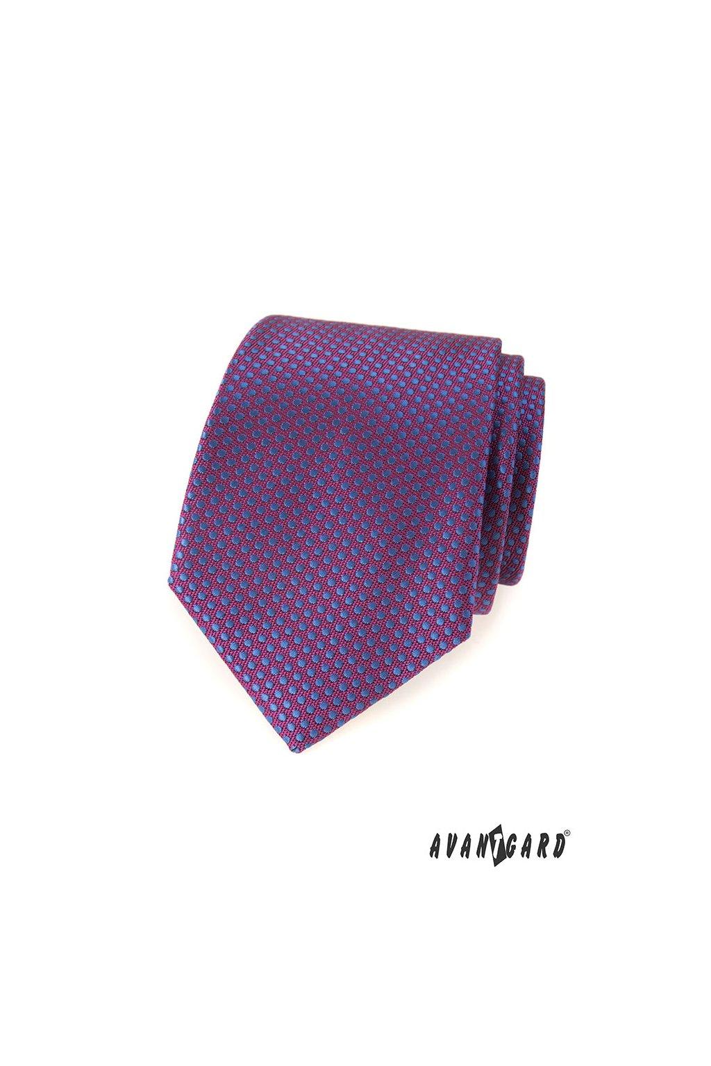 Fialová luxusní kravata s tečkou 561 - 81186