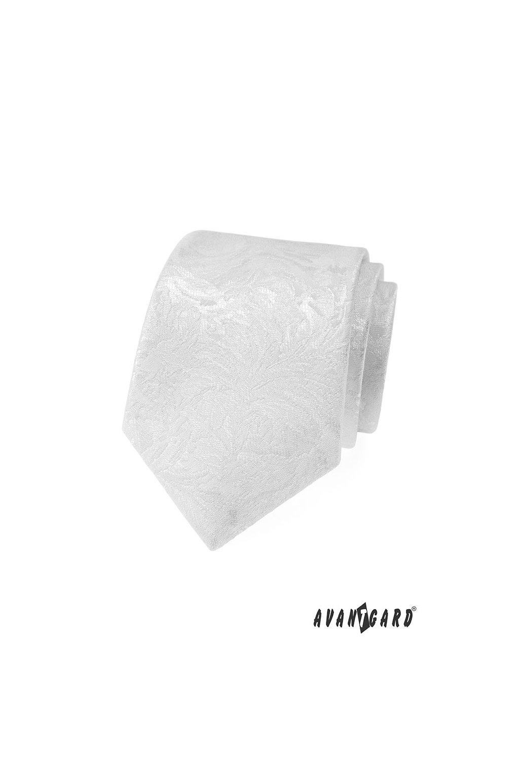 Bílá luxusní slavnostní kravata 561 - 81261