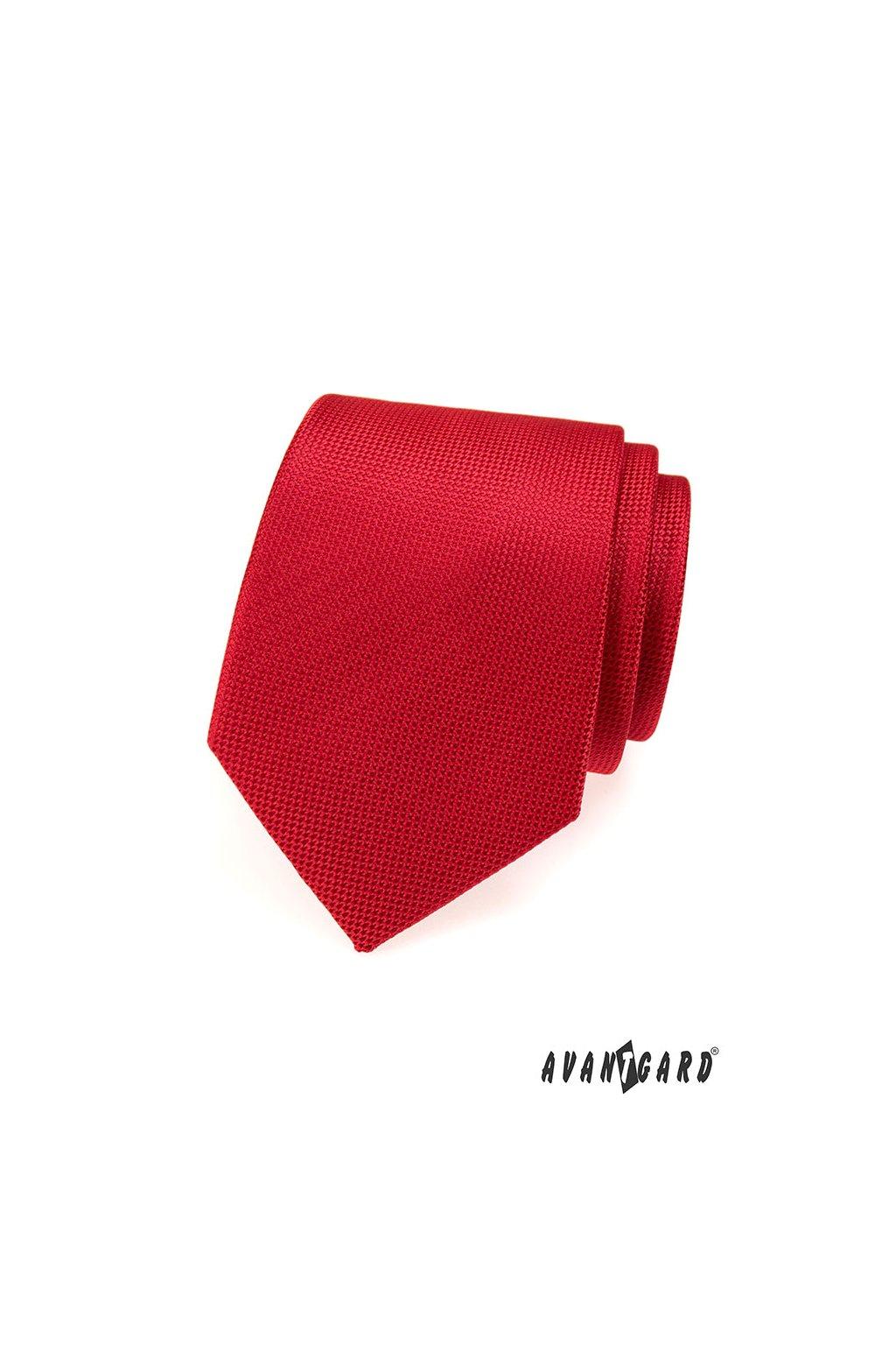 Červená luxusní kravata 561 - 8149