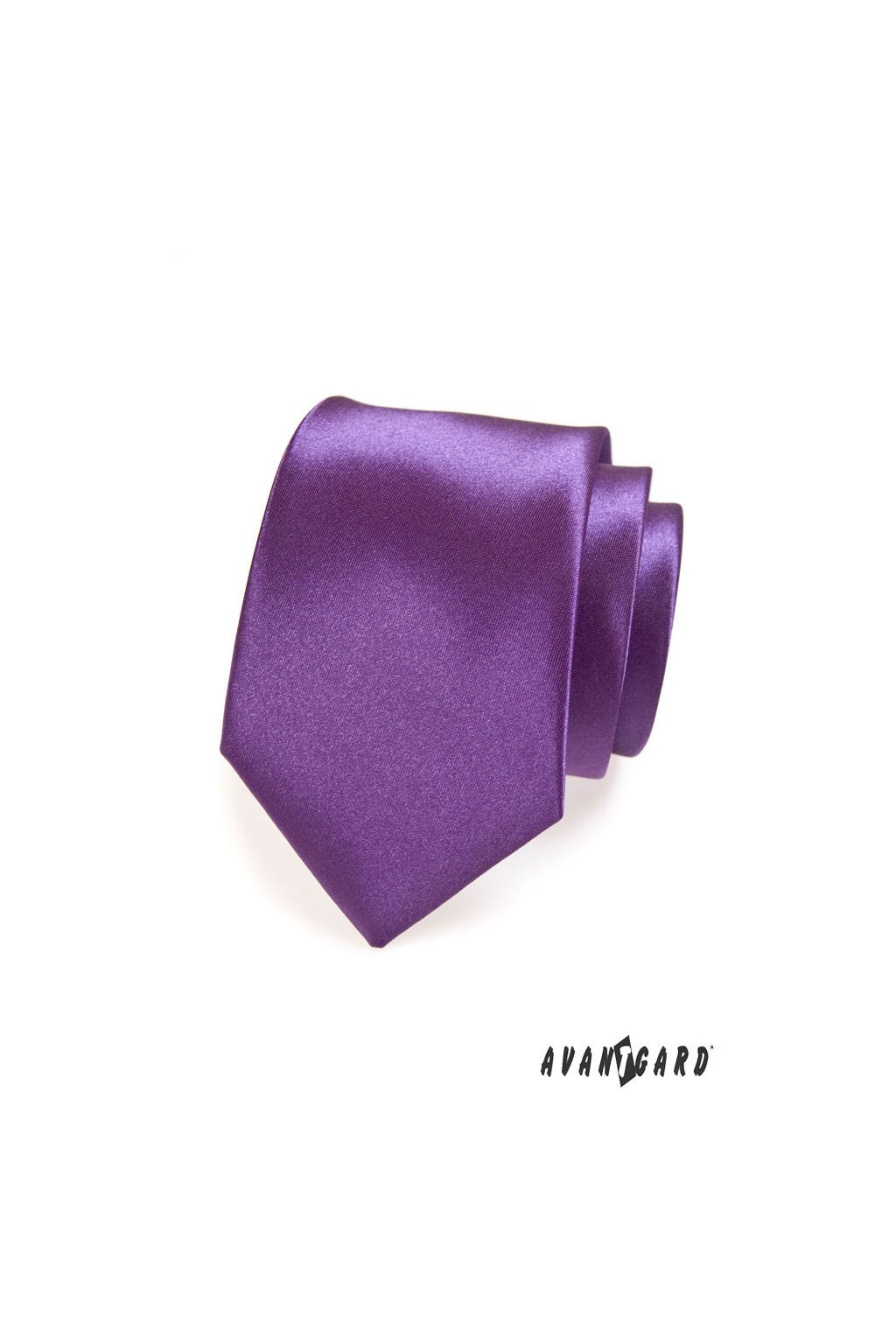 Fialová luxusní lesklá kravata 561 - 9017