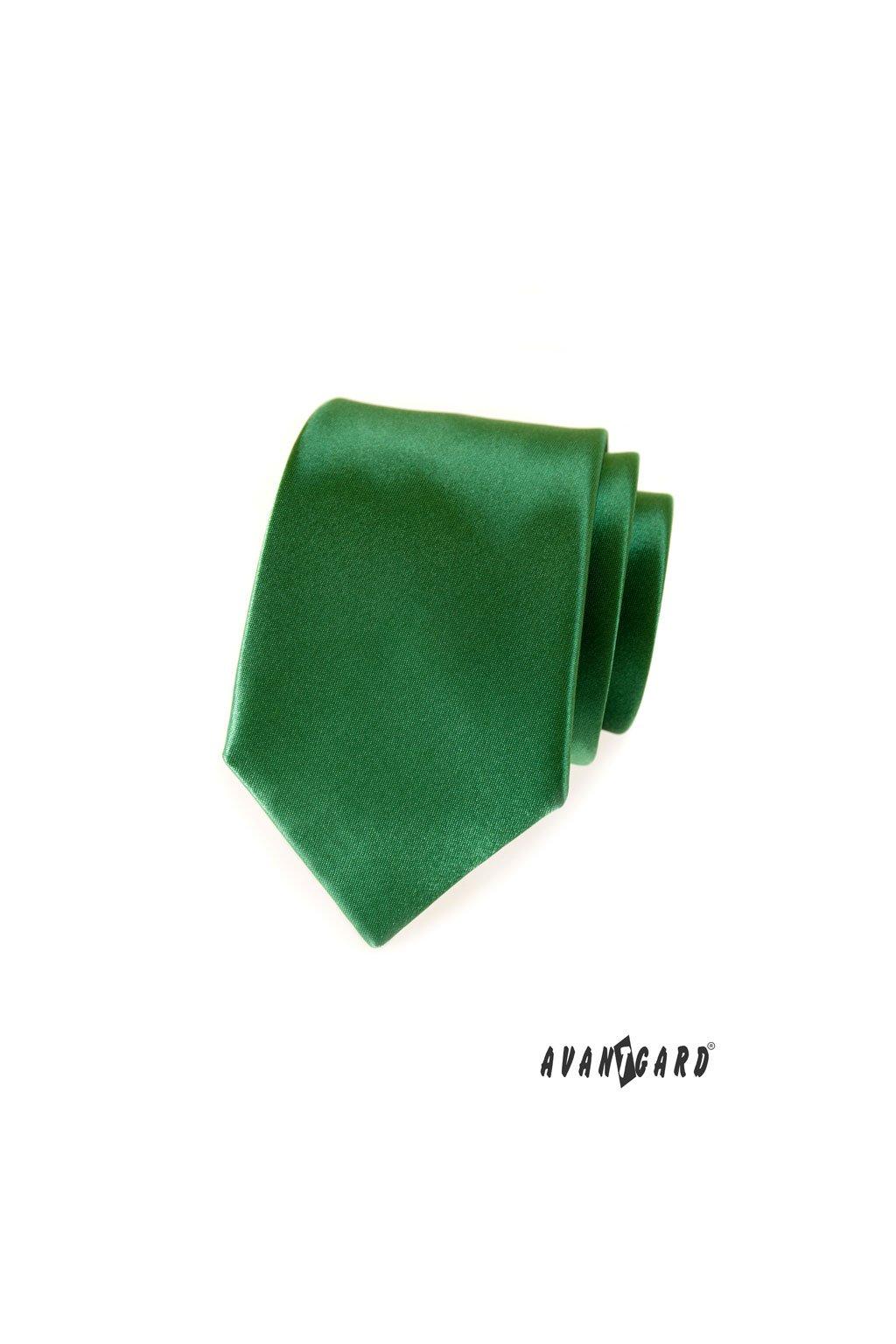 Tmavě zelená luxusní kravata 561 - 9023