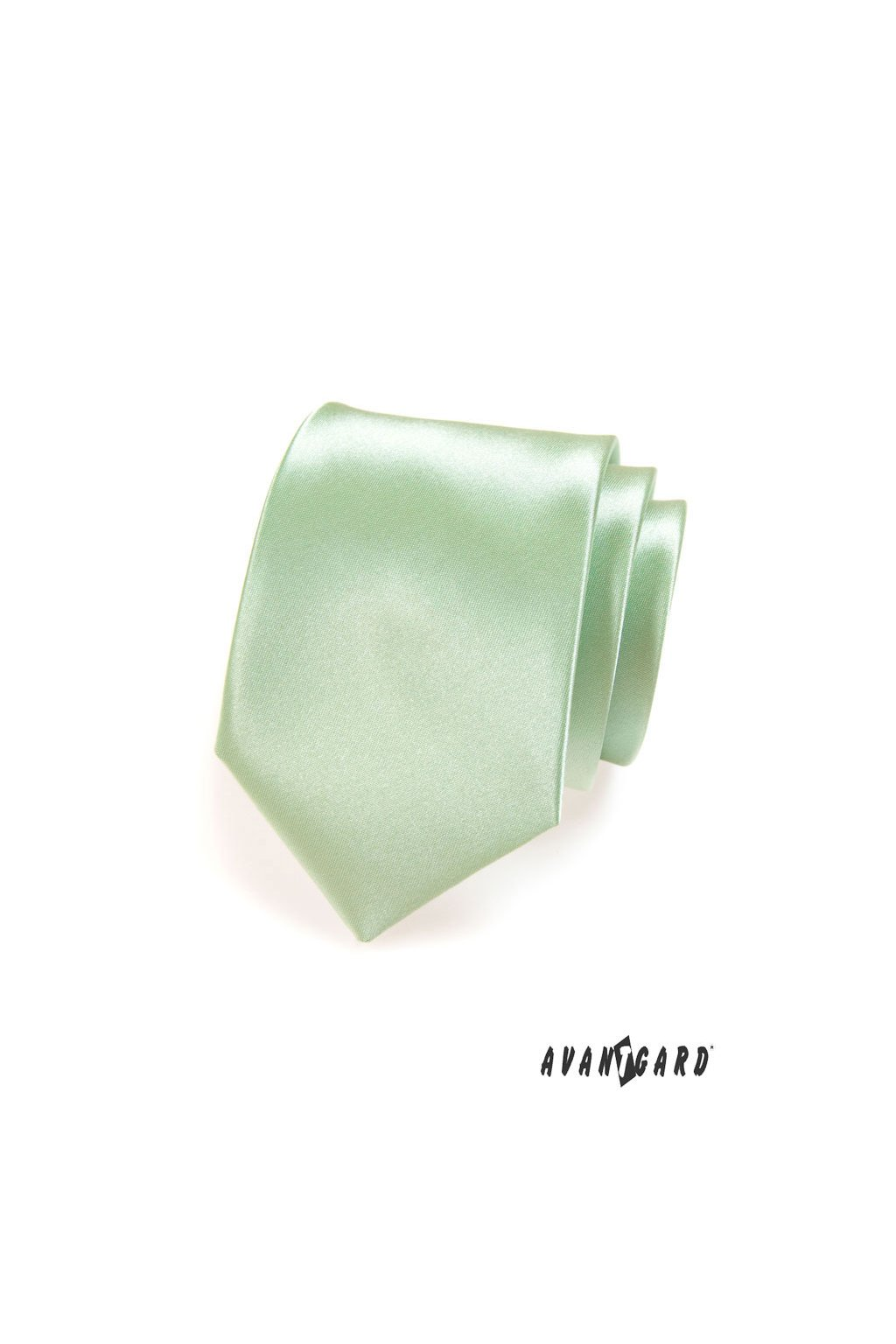 Světle zelená luxusní kravata lesklá 561 - 9024