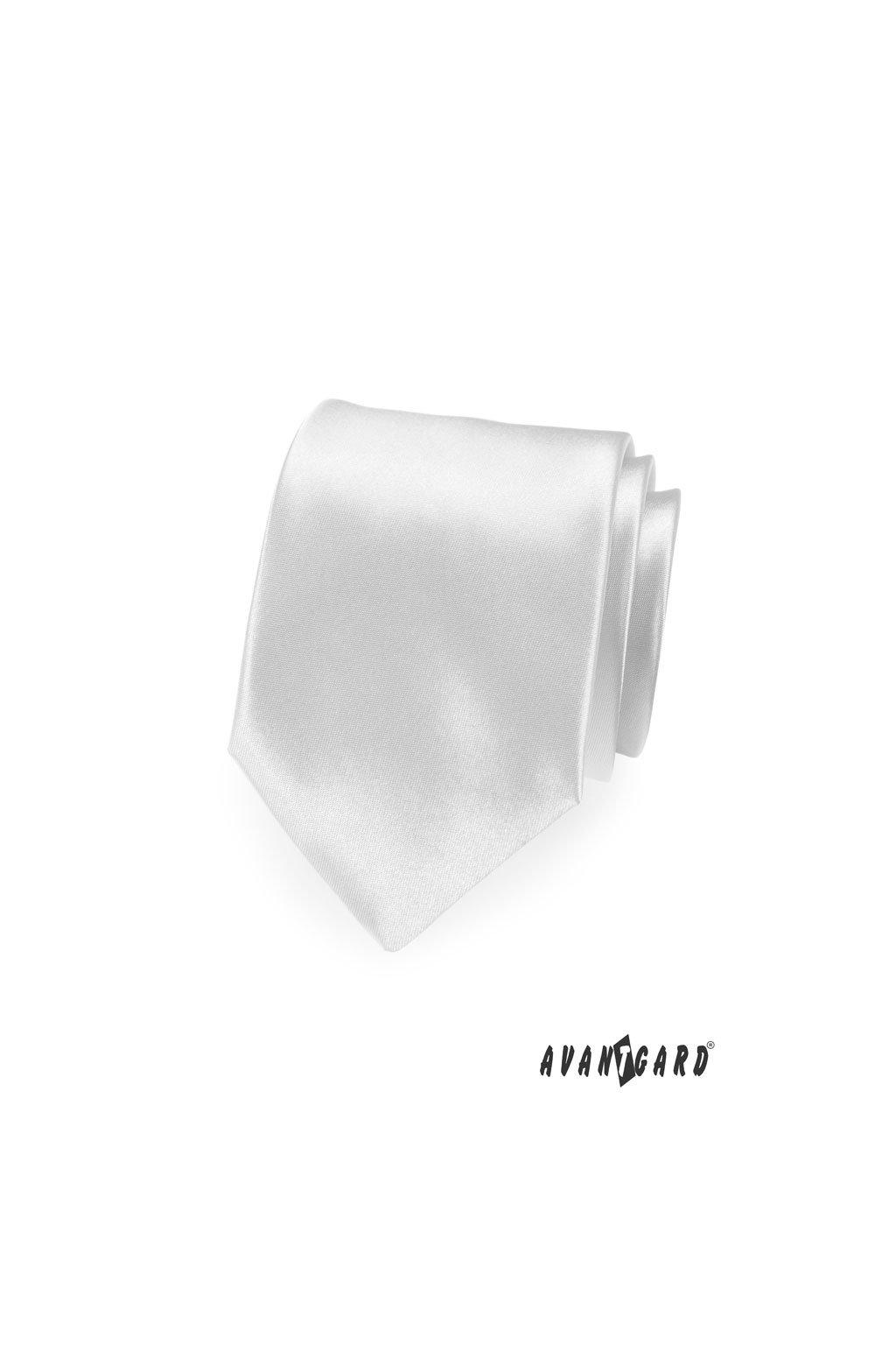 Bílá luxusní kravata lesklá 561 - 9029