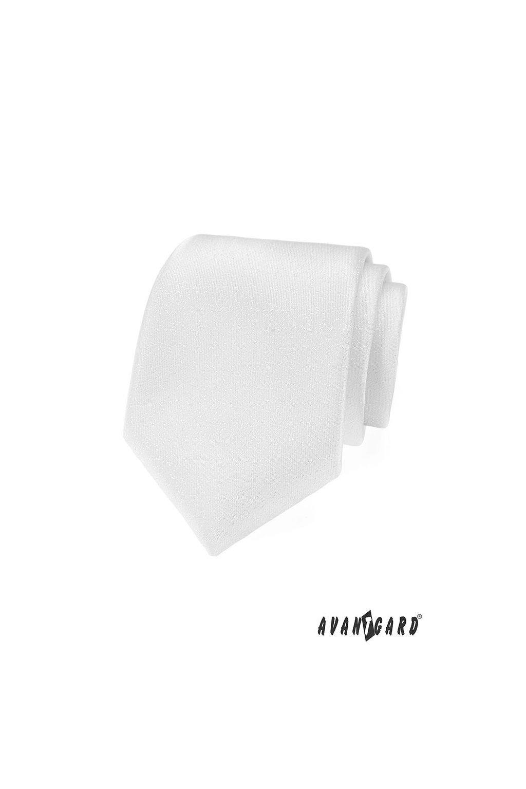 Bílá jemná luxusní kravata 561 - 9590