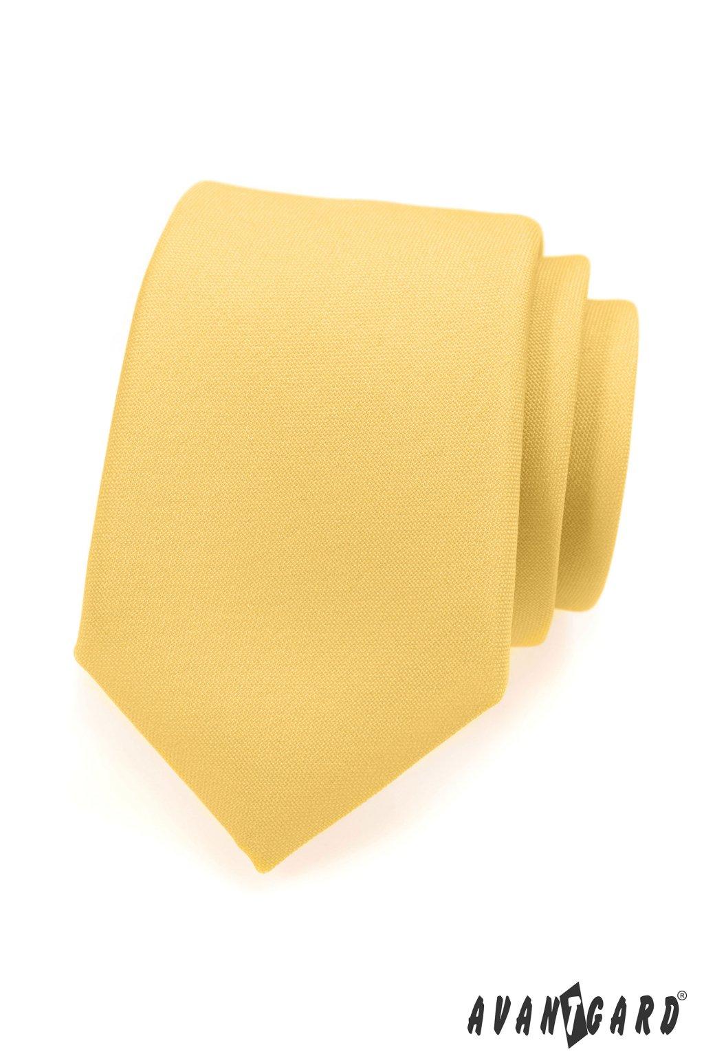 Kravata LUX žlutá 561 - 9826