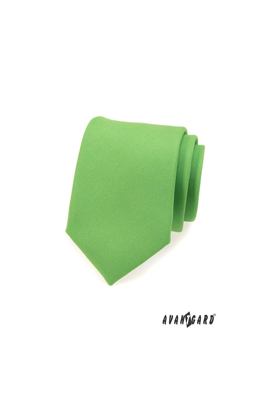 Světle zelená luxusní kravata 561 - 9829