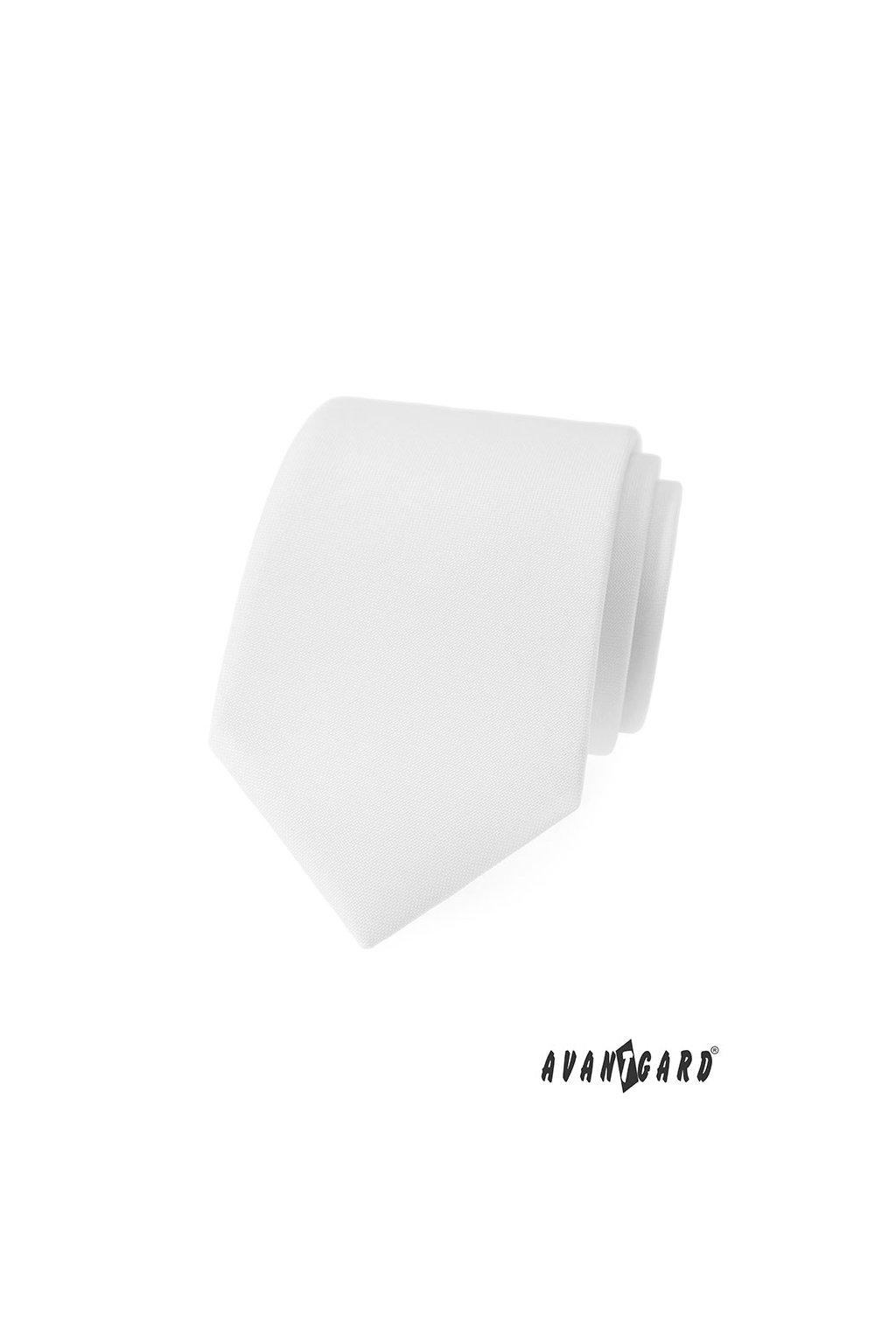 Bílá luxusní módní kravata 561 - 9846