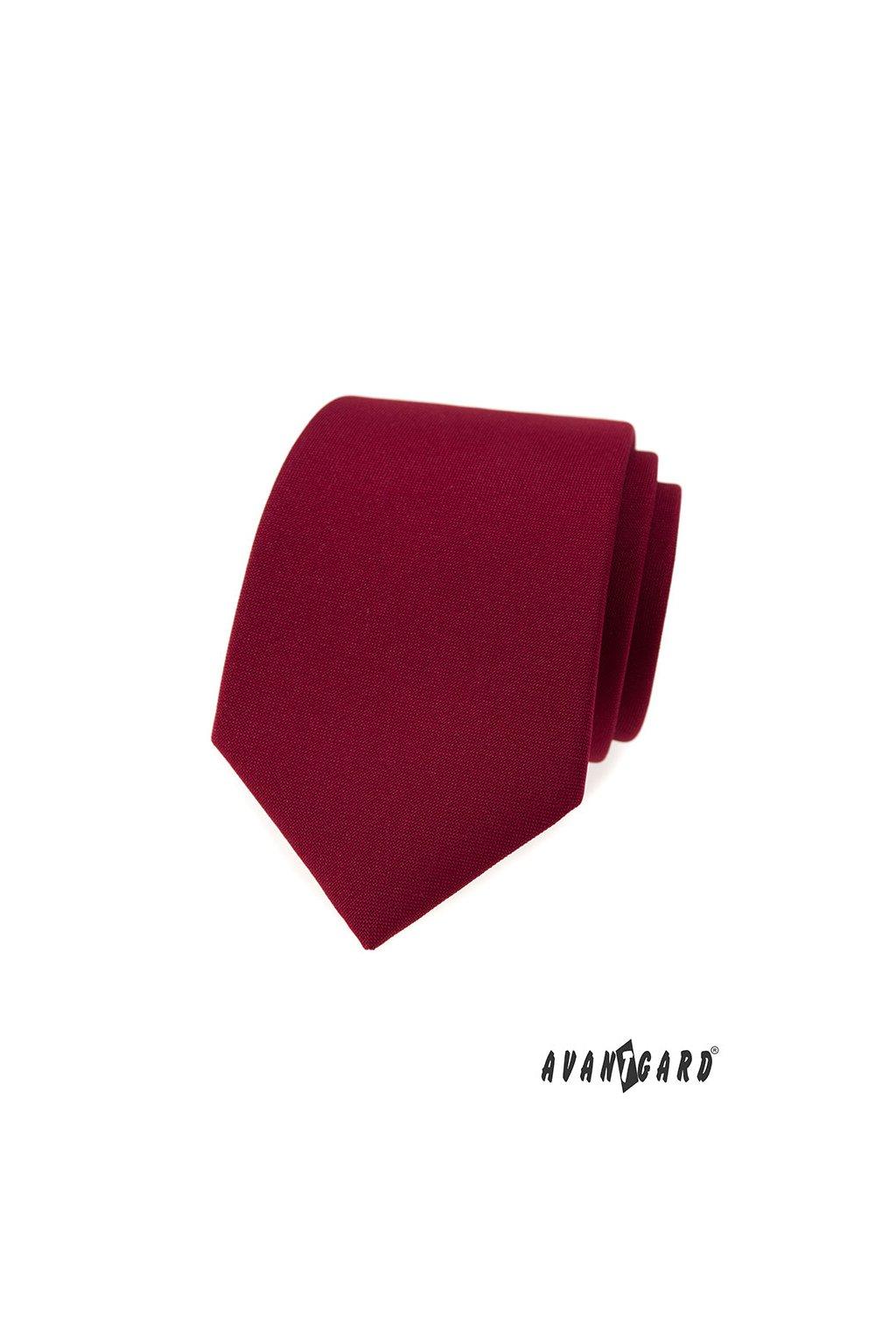 Bordó luxusní kravata jednobarevná 561 - 9853