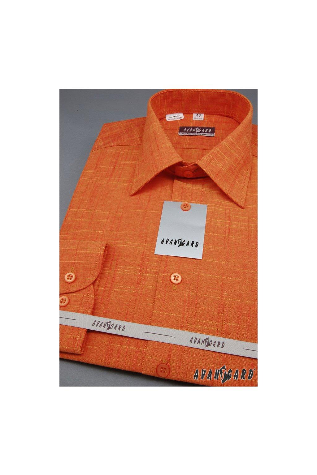 Pánská košile LUX pomerančová 564 - 6146