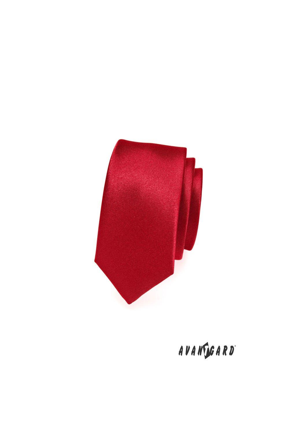 Kravata SLIM LUX červená 571 - 9005