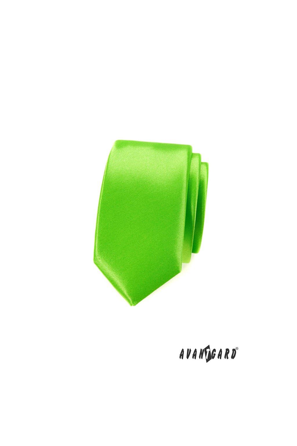 Kravata SLIM LUX zelená 571 - 9026