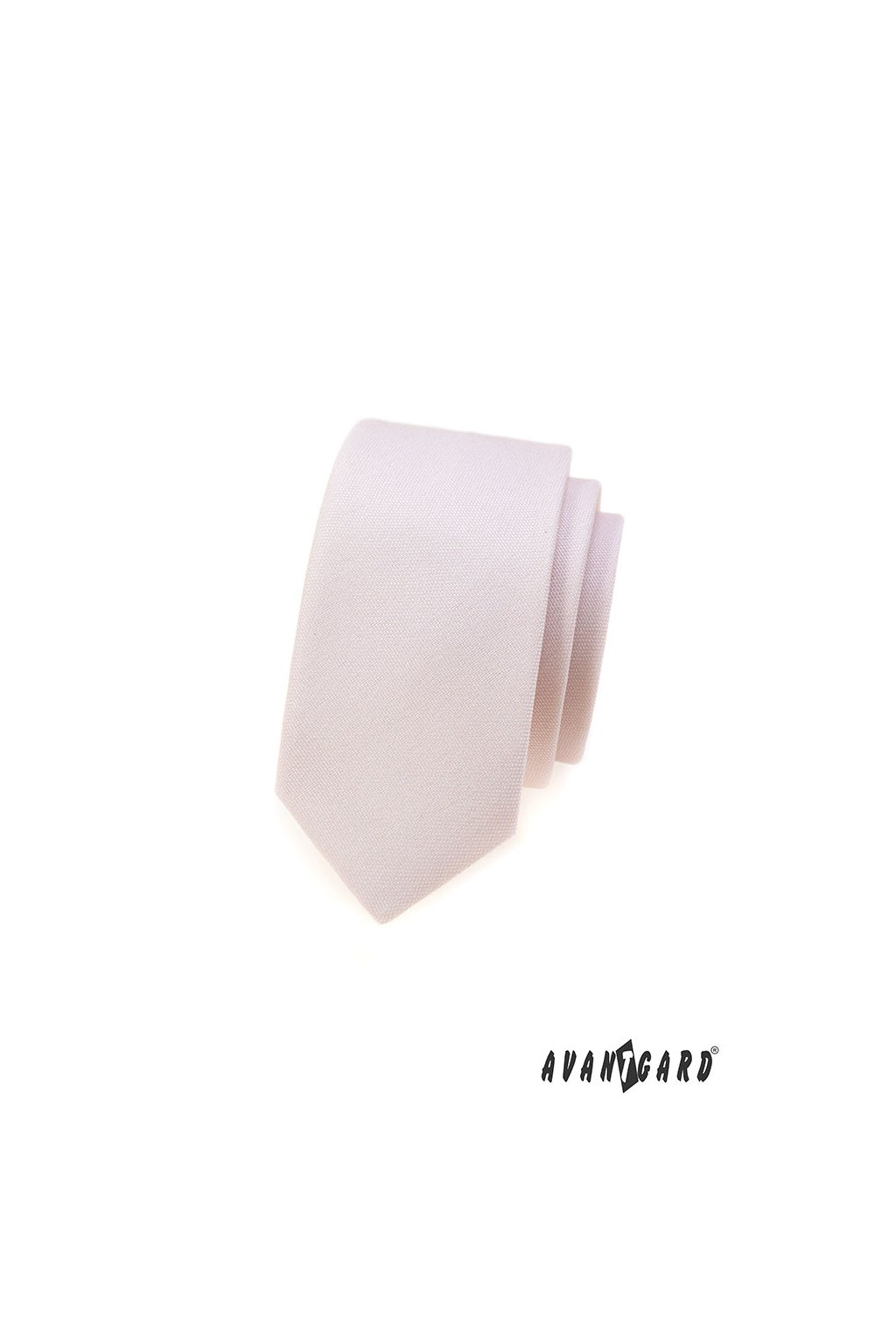 Kravata SLIM LUX pudrová 571 - 9831