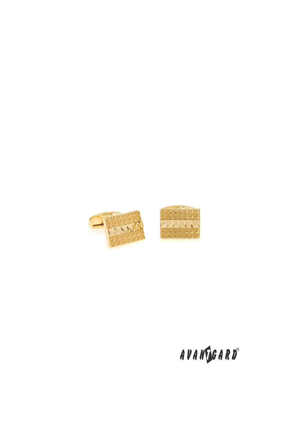 Manžetové knoflíčky PREMIUM zlatá lesk 573 - 10073