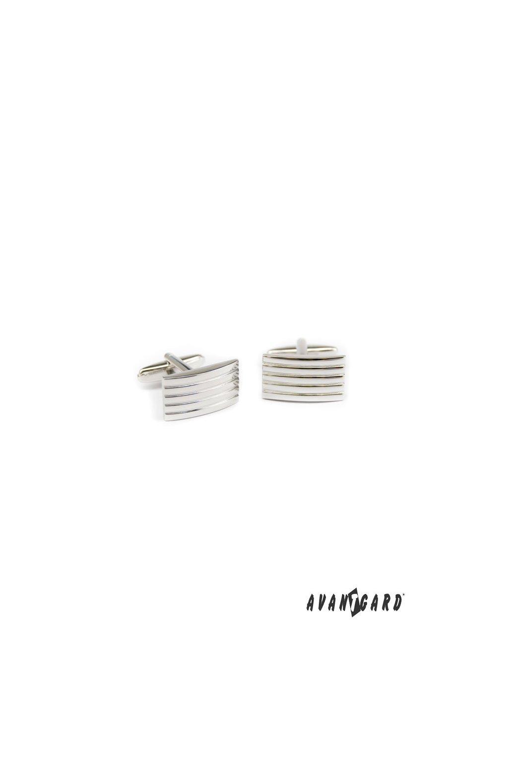 Manžetové knoflíčky PREMIUM stříbrná lesk 573 - 20500