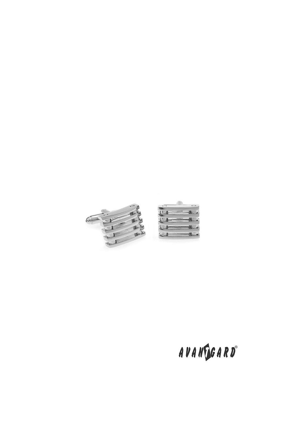 Manžetové knoflíčky PREMIUM stříbrná lesk 573 - 20636