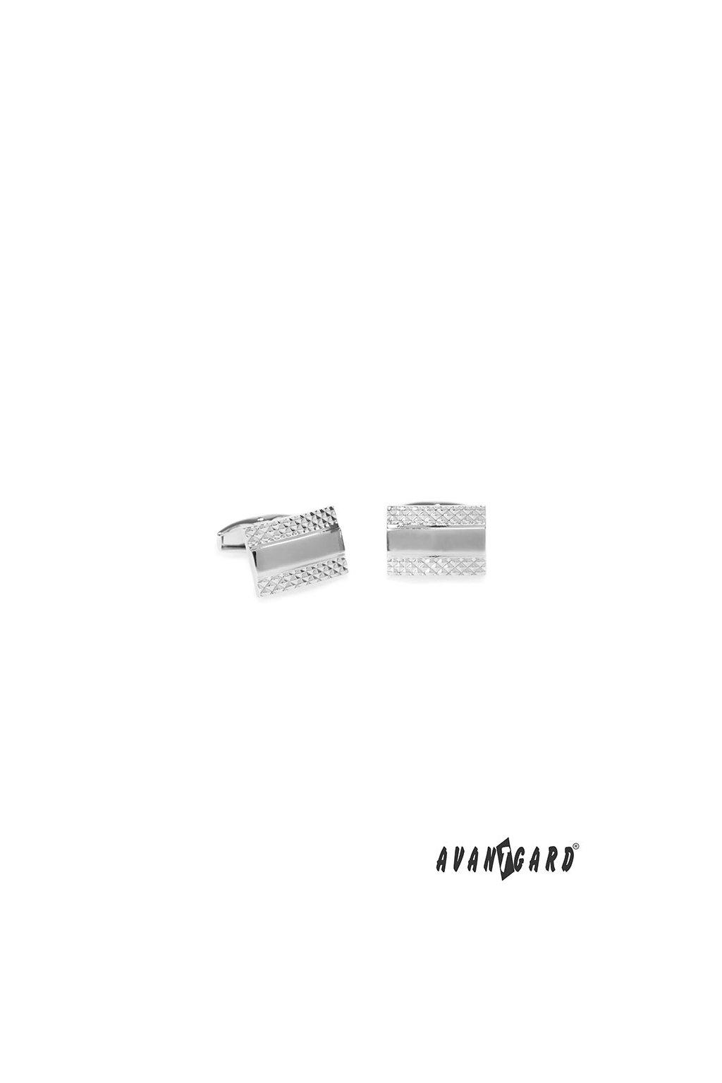 Manžetové knoflíčky PREMIUM stříbrná lesk 573 - 20746
