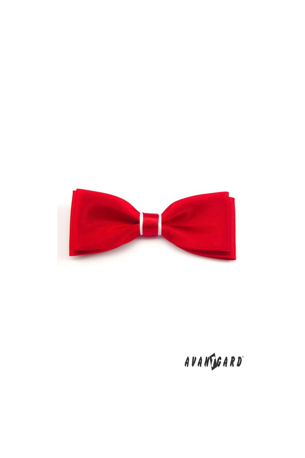 Motýlek s kapesníčkem červeno-bílá 575 - 1201