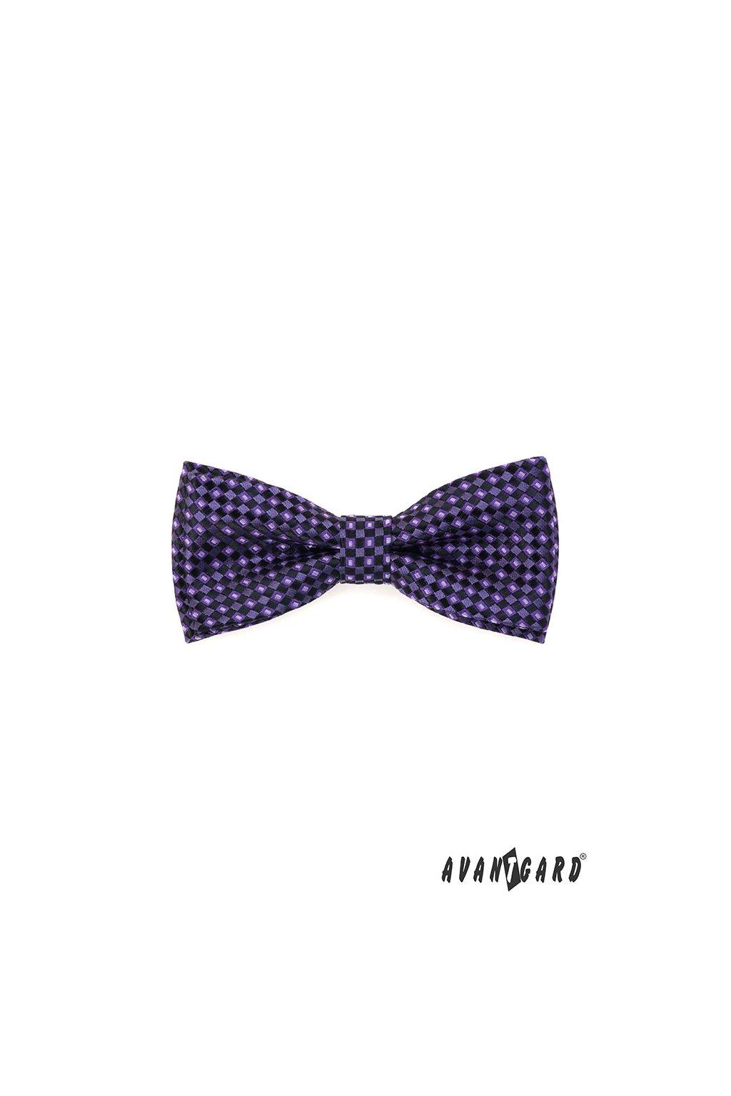 Motýlek s kapesníčkem fialová 575 - 2083