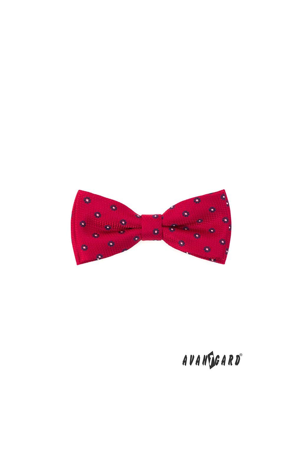 Motýlek s kapesníčkem červená 575 - 22011