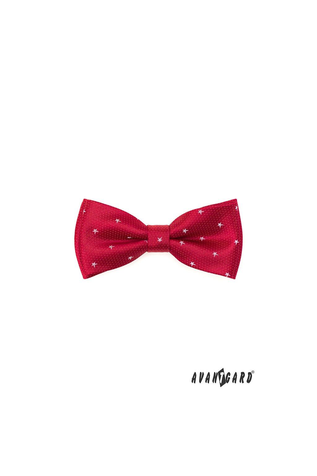 Motýlek s kapesníčkem červená 575 - 22012