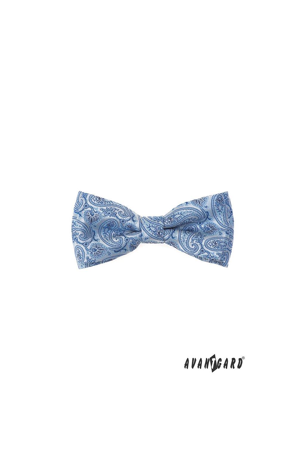 Motýlek s kapesníčkem modrá 575 - 22048