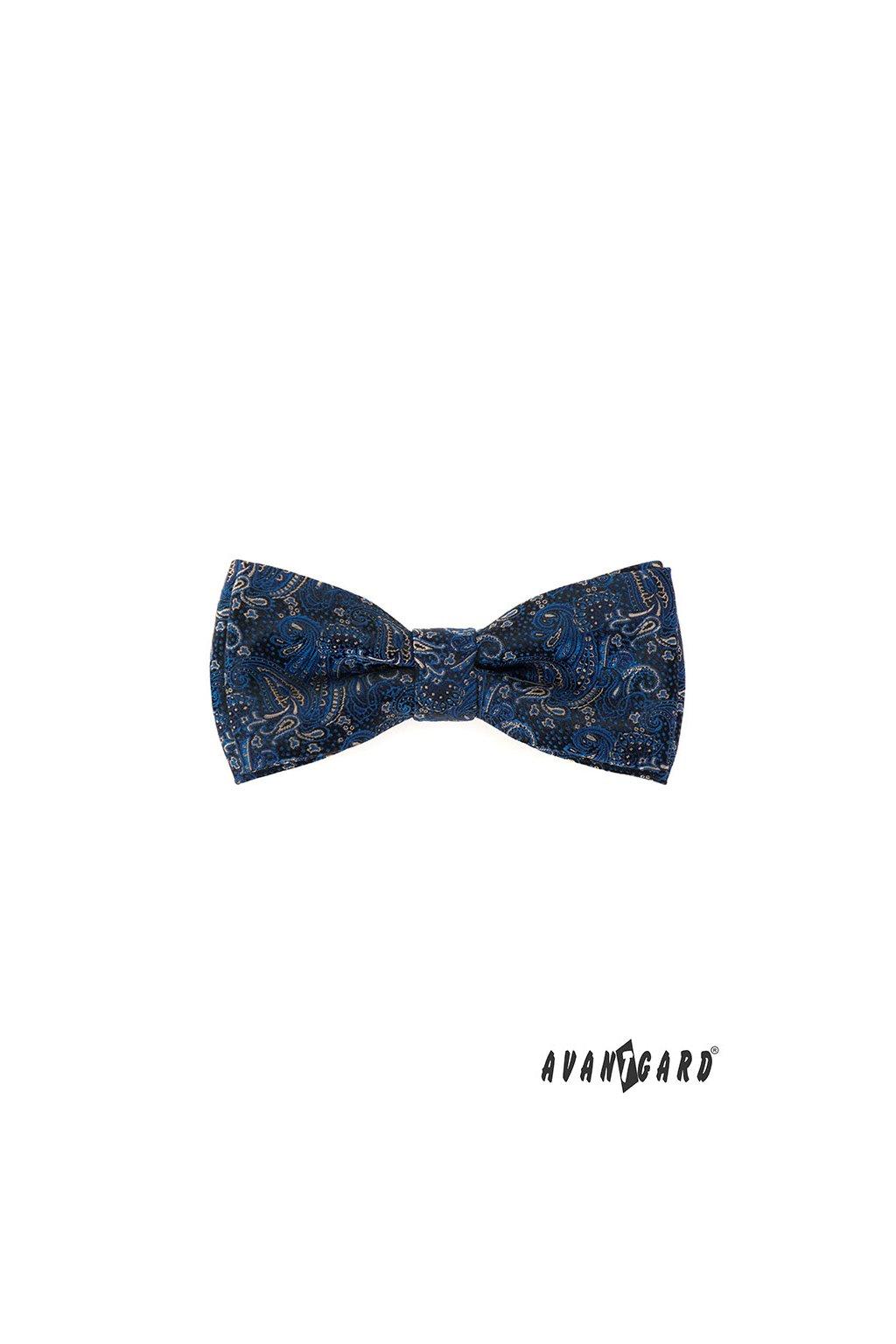 Motýlek s kapesníčkem modrá 575 - 22049