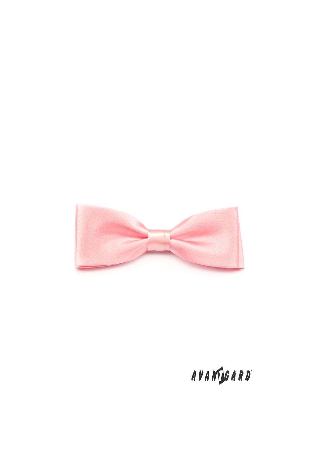 Motýlek s kapesníčkem růžová 575 - 9011