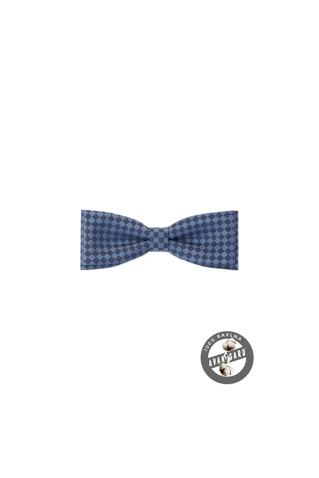 Pánský motýlek modrý kosočtverec 576 - 51005