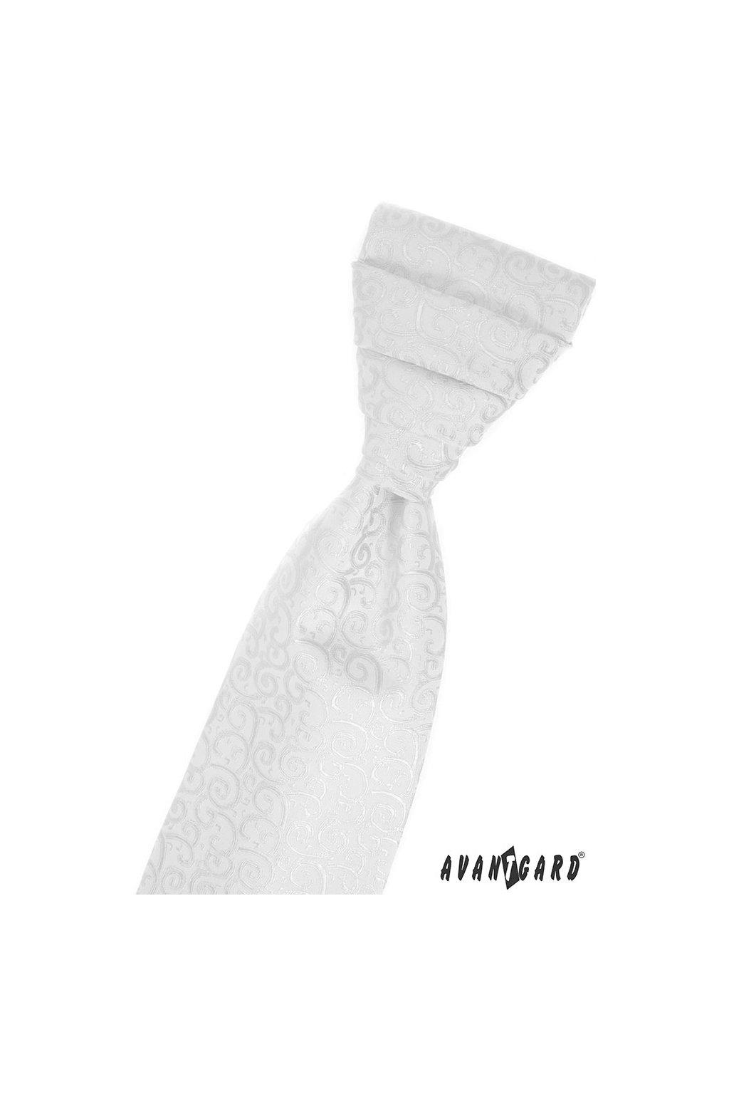 Svatební regata PREMIUM s kapesníčkem bílá 577 - 59