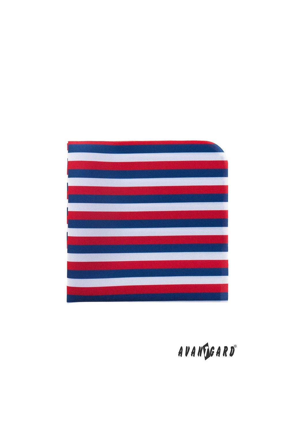 Kapesníček do saka LUX trikolóra bílá/červená/modrá 583 - 111218