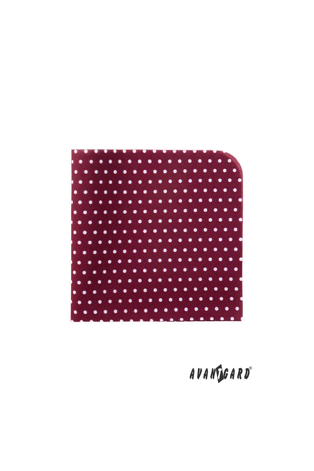Kapesníček do saka LUX bordó s bílými puntíky 583 - 1980