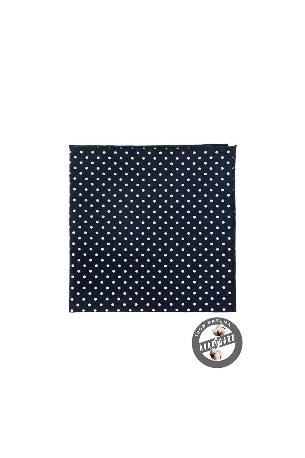 Kapesníček do saka LUX modrá s bílým puntíkem 583 - 5138