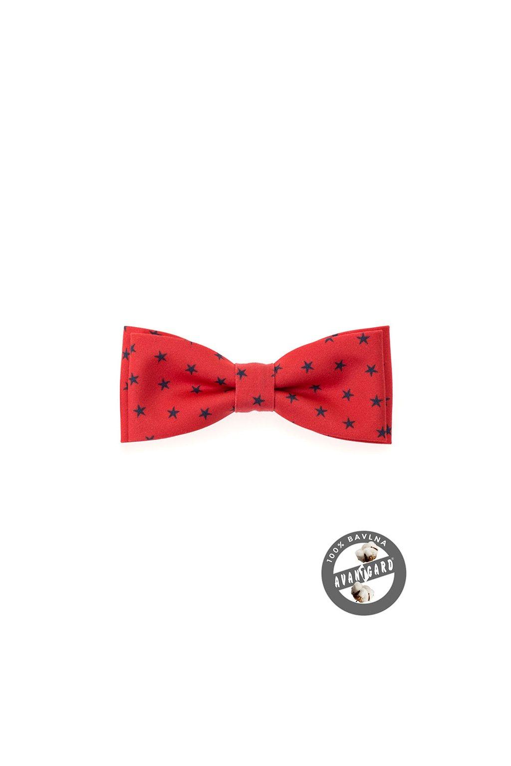 Motýlek PREMIUM bavlněný červená 600 - 5090