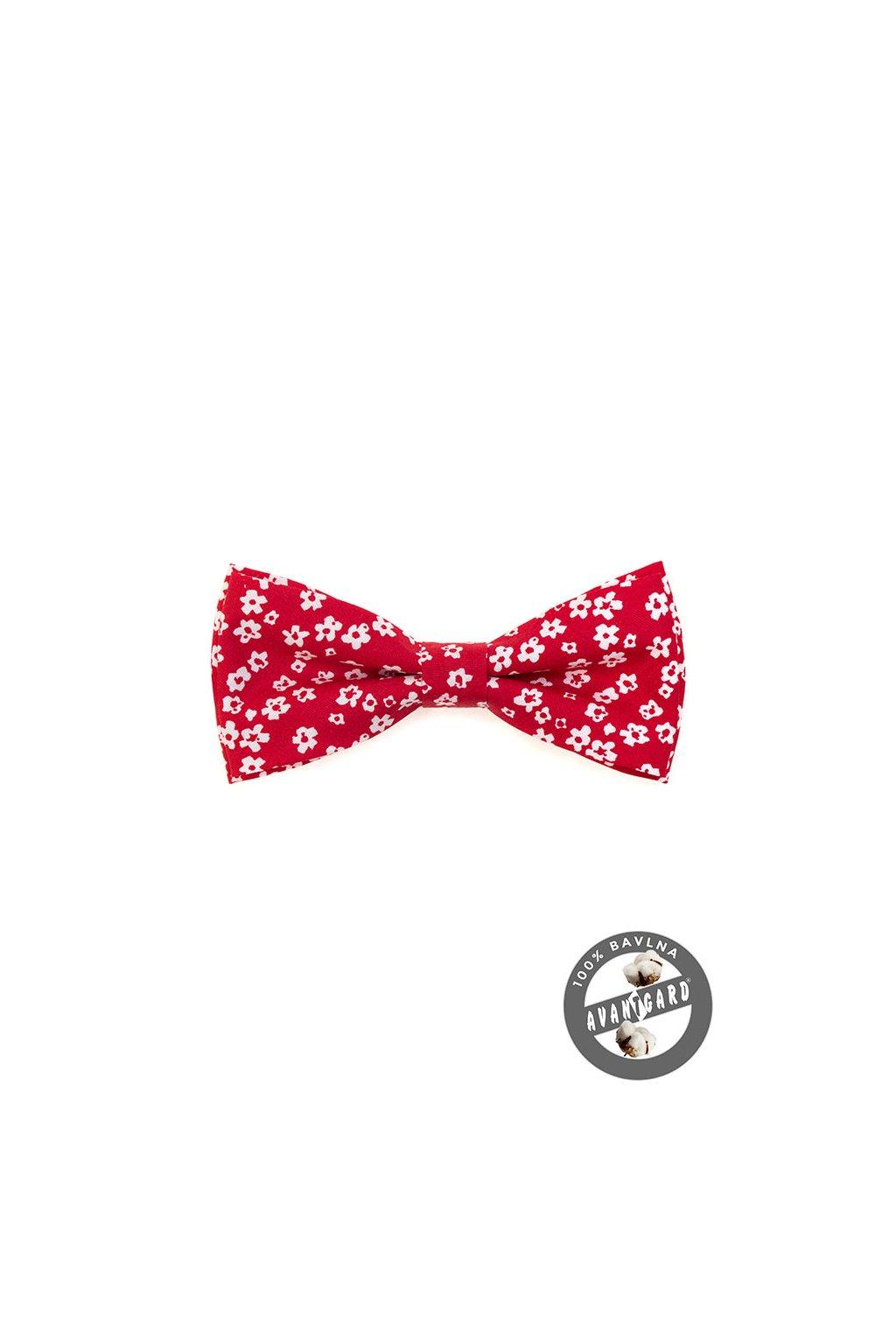 Motýlek PREMIUM bavlněný červená 600 - 5141