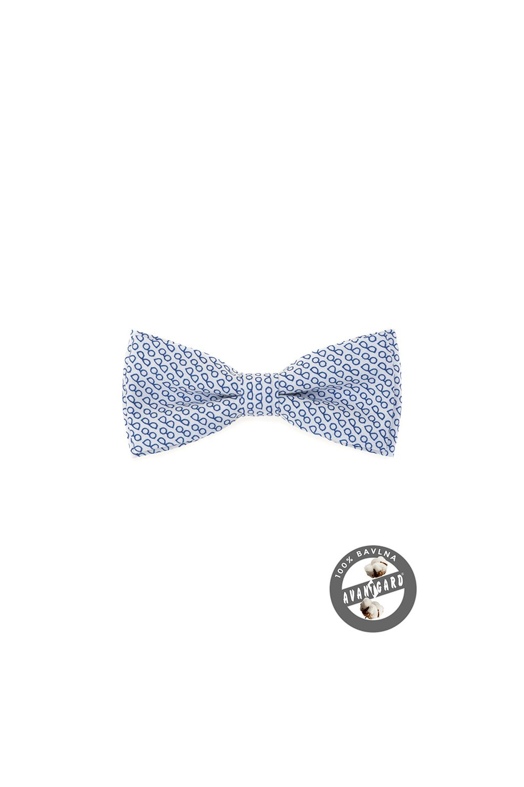 Motýlek PREMIUM bavlněný bílá/brýle 600 - 5197