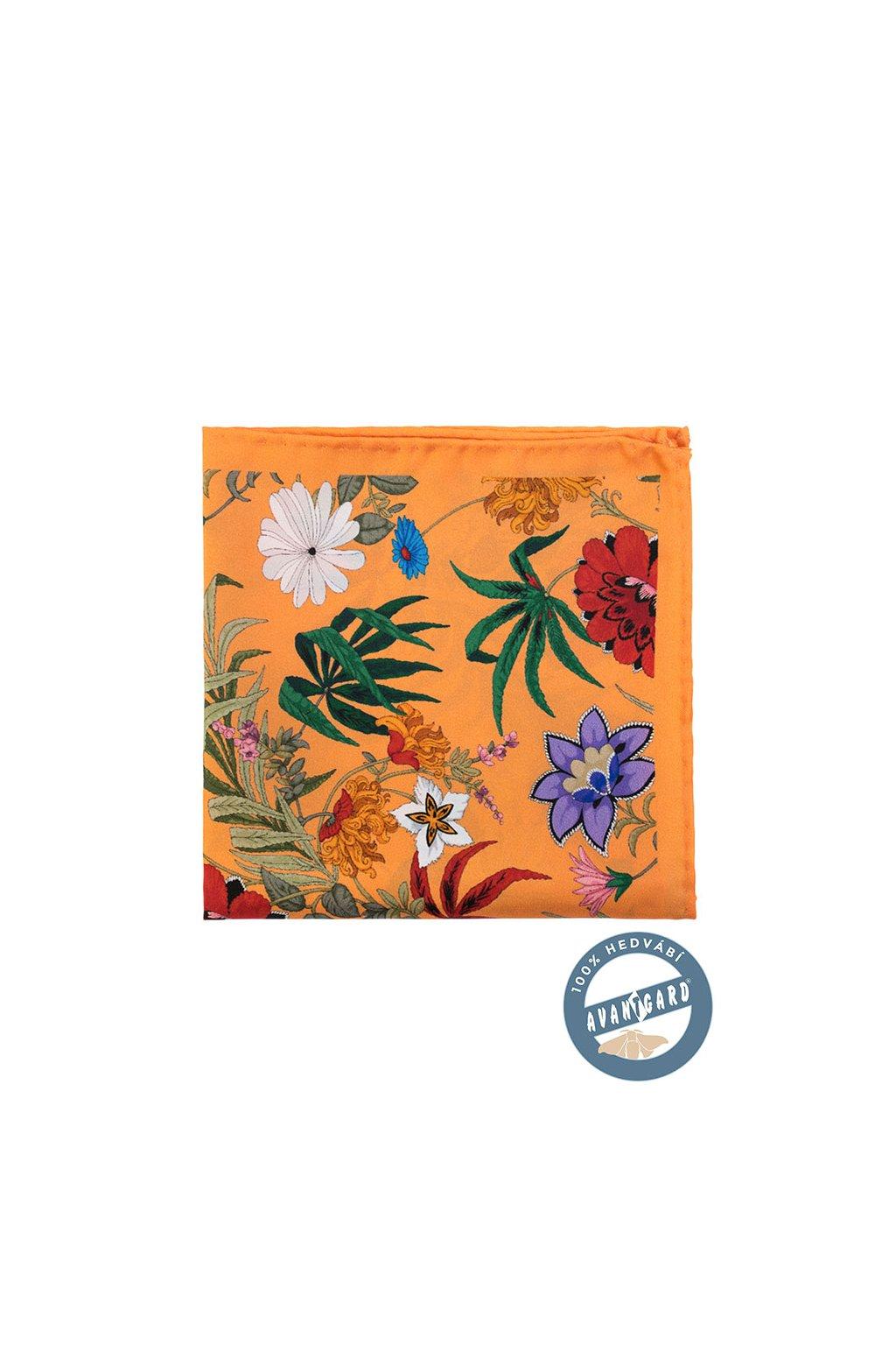 Kapesníček hedvábný PREMIUM oranžová 610 - 5673
